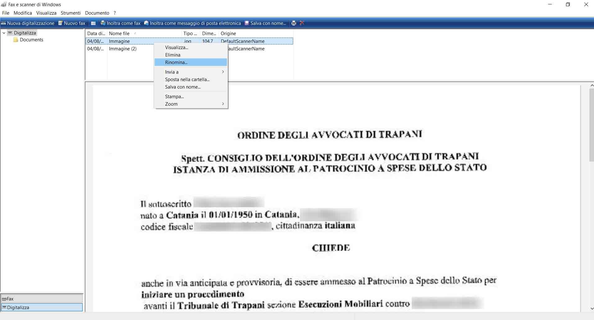 Echo Sistemi, tutorial su come creare dei file PDF. Rinominare i file