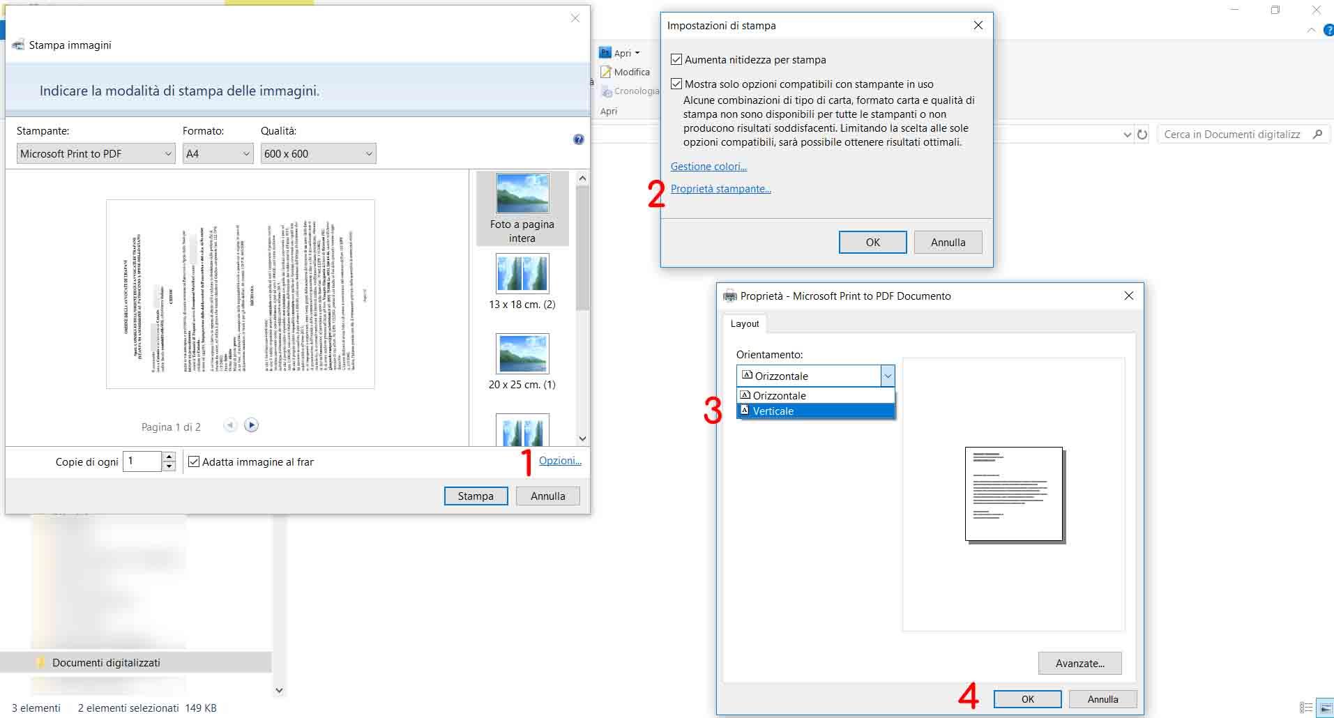 Echo Sistemi, tutorial su come creare dei file PDF, correggere l'orientamento