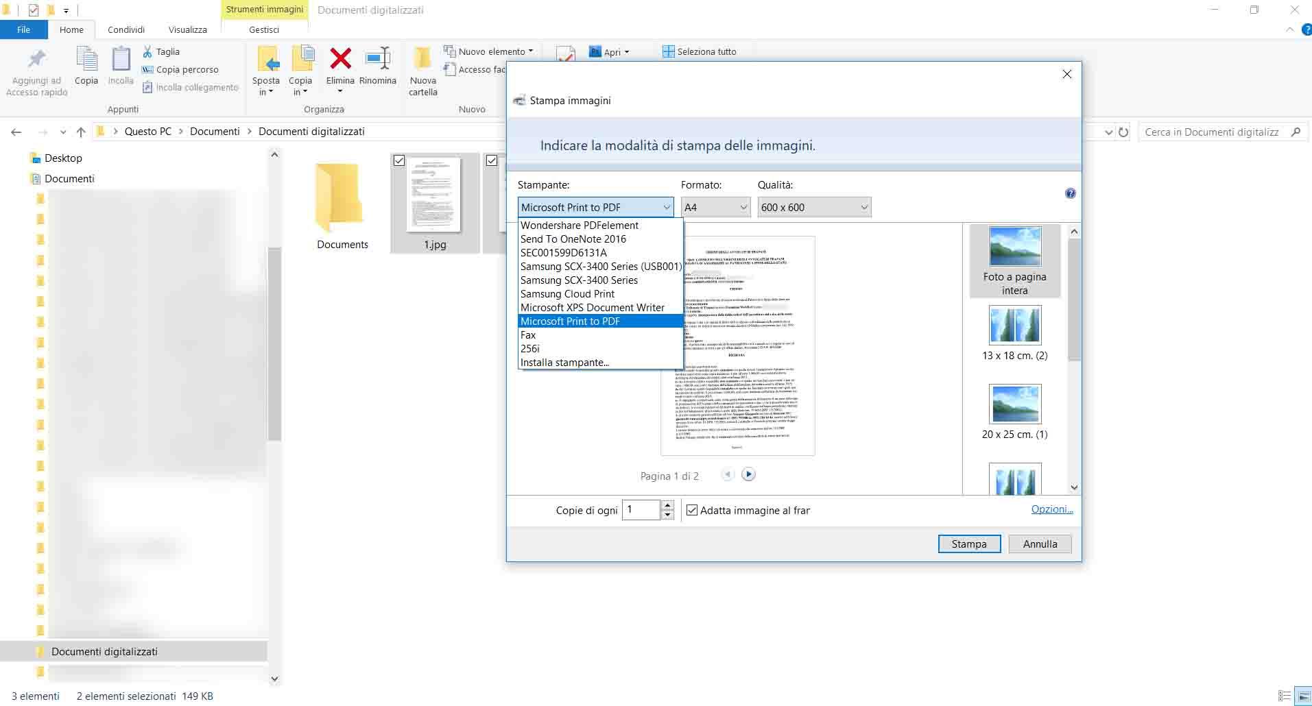 Echo Sistemi, tutorial su come creare dei file PDF, scegliere il dispositivo