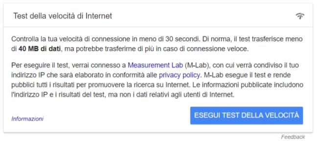 Echo Sistemi, Tutorial su come Verificare la velocità di connessione, speedtest di Google